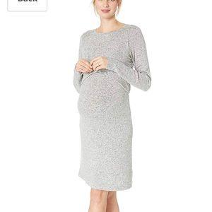 Motherhood Maternity Brushed Hacci Nursing Dress